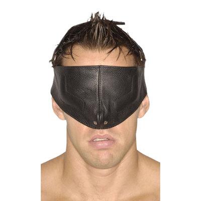 Zwart bondage en sm gezichtsmasker
