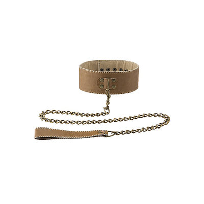 Ouch! Brown Halsband Met Ketting